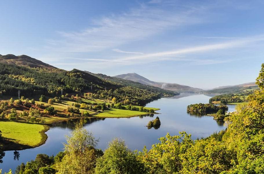 Udsigt til Loch Tummel