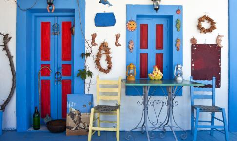 Stemningsbillede af et hus i Grækenland - Risskov Rejser
