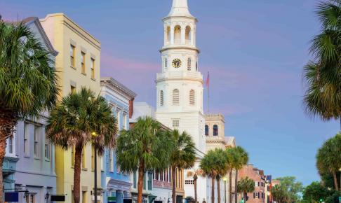 Rainbow Row i Charleston - Risskov Rejser