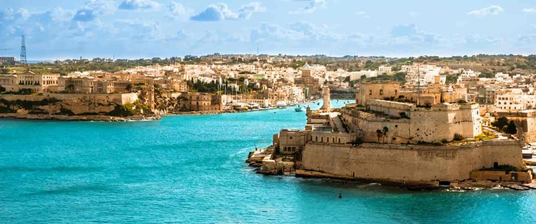Udsigt over Vittoriosa Havn fra Valletta