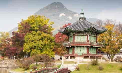 Gyeongbokgung-paladset en efterårsdag - Risskov Rejser