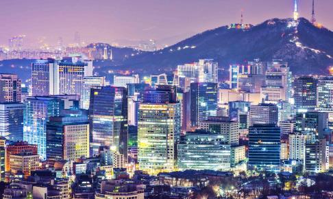 Seoul om natten