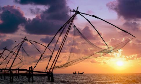 Solnegang ved Kochi i Indien - Risskov Rejser