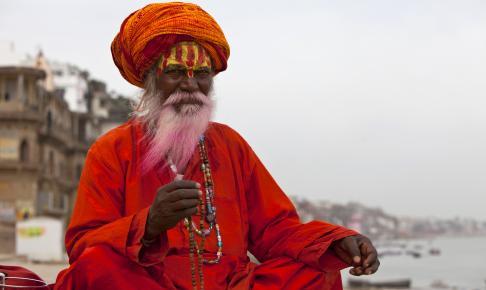 En gammel indisk mand