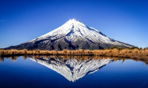 Udsigt til Mount Taranaki - Risskov Rejser