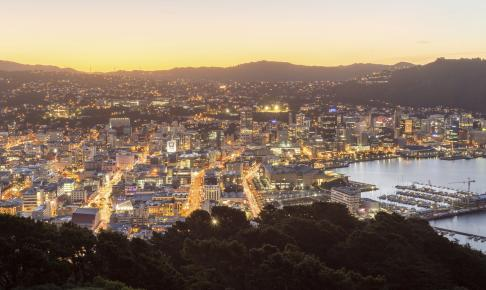 Udsigt over Wellington ved daggry - Risskov Rejser