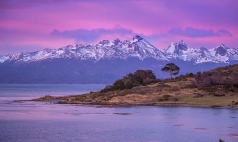 Solopgang ved Ushuaia, Argentina - Risskov Rejser