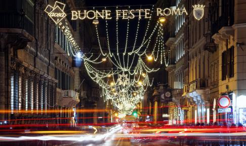 Via del Corso i julestemning