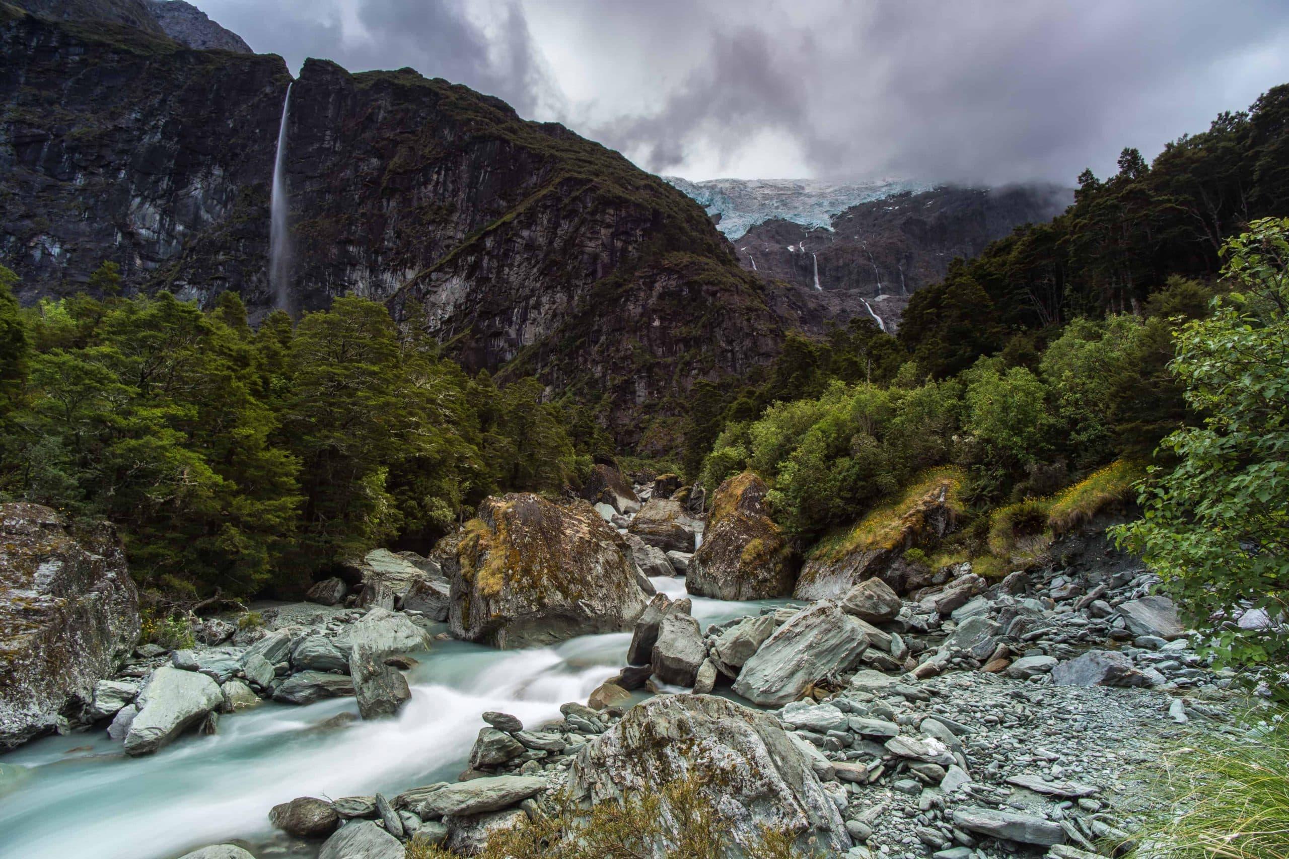 På vandretur til Rob Roy Glacier - Risskov Rejser