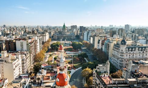 Et view over den argentinske hovedstad Buenos Aires - Risskov Rejser