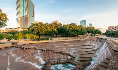 Fort Worth Water Gardens, Texas, USA