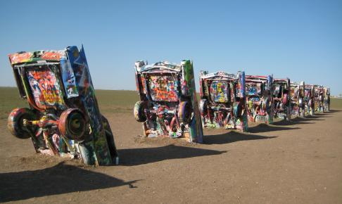 Cadillac Ranch ved Amarillo