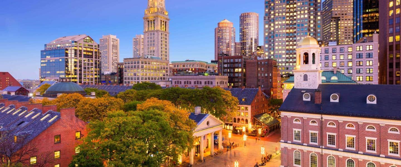 Downtown Boston Cityscape - Risskov Rejser