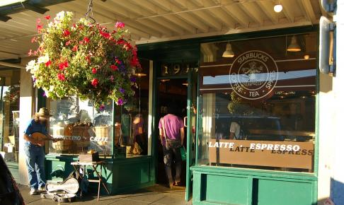 Første Starbucks i Seattle