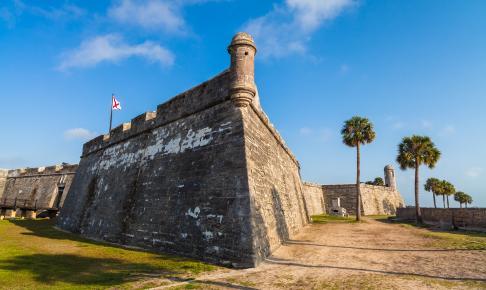 Det berømte fort i St. Augustine, Florida - Risskov Rejser