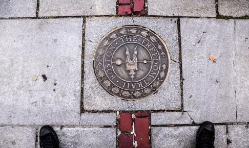 Freedom trail mark i Boston Massachusettes - Risskov Rejser