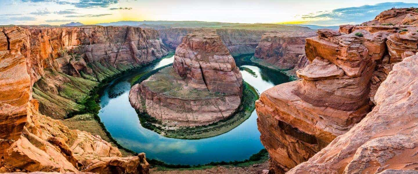 Horseshoe Bend in the USA panorama - Risskov Rejser