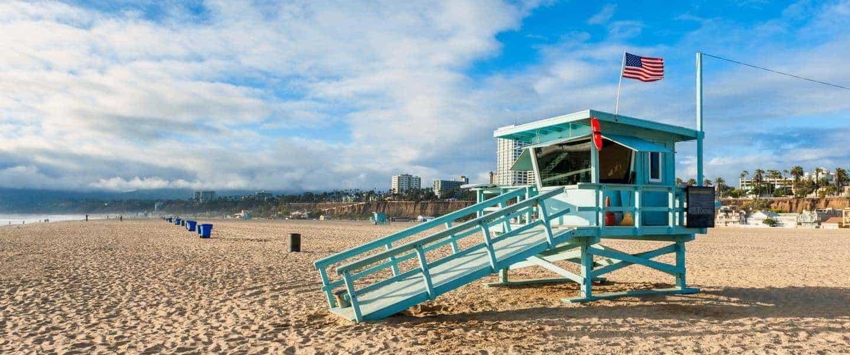 Livredder hytte på Santa Monia strand - California - Risskov Rejser