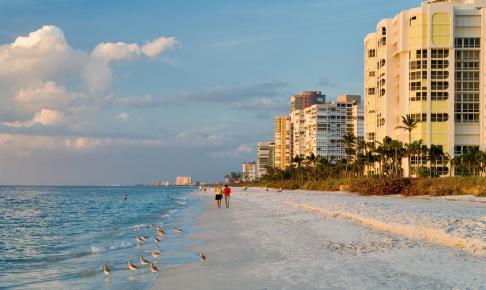 Stranden i Naples Florida