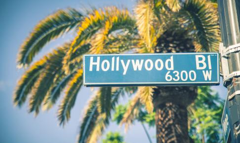 Hollywood gadeskilt - Risskov Rejser