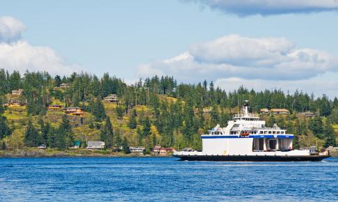 Færgen til Quadra Island - Risskov Rejser