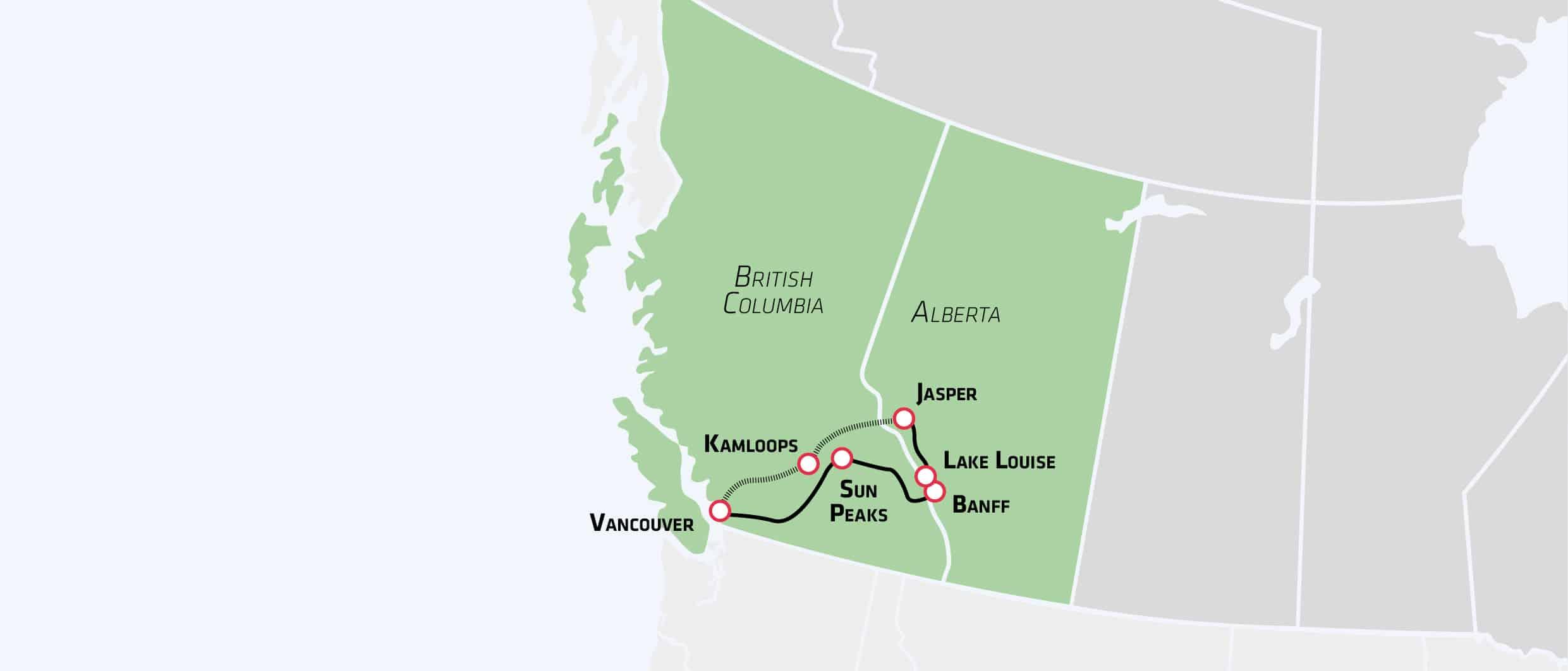 Rocky Mountains i bil og tog - kør-selv-ferie - Risskov Rejser