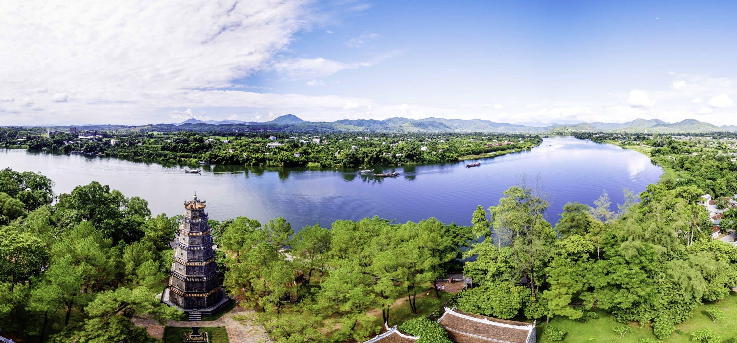 Thien Mu-pagoden i Hué - Risskov Rejser