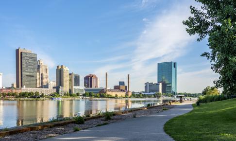 Panorama udsigt over Toledo i Ohio - Risskov Rejser