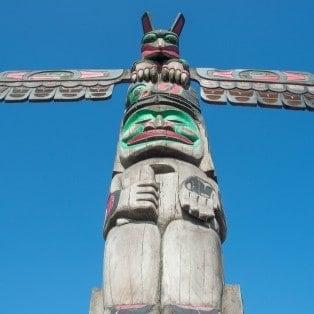 Totempole i Duncan