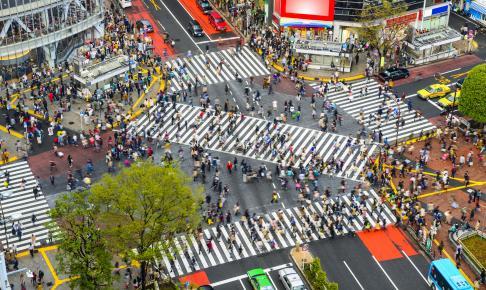 Shibuya Crossing, Tokyo, Japan - Risskov Rejser