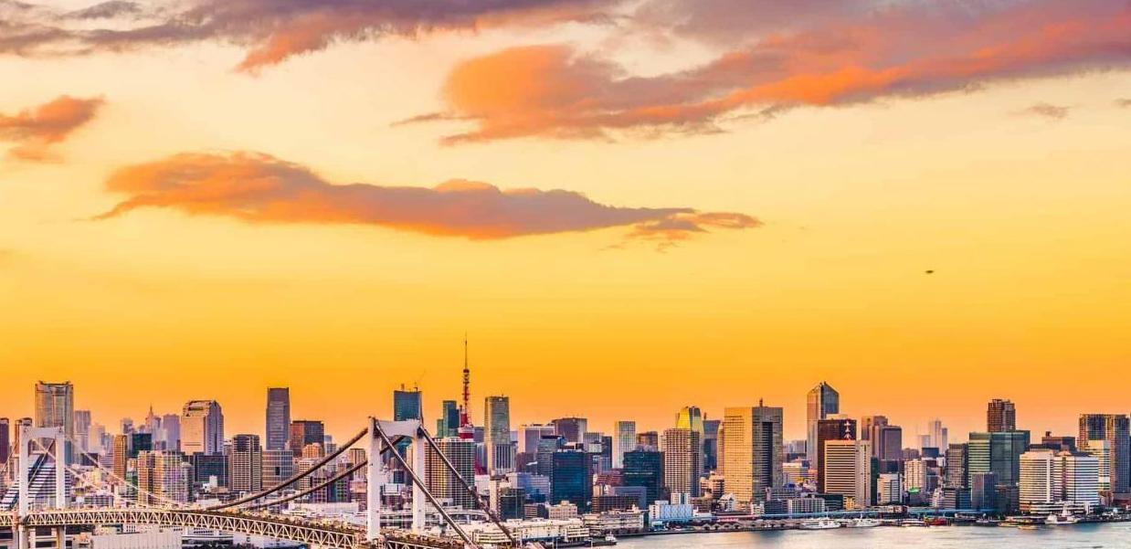 Tokyo kystlinje og skyline - Risskov Rejser