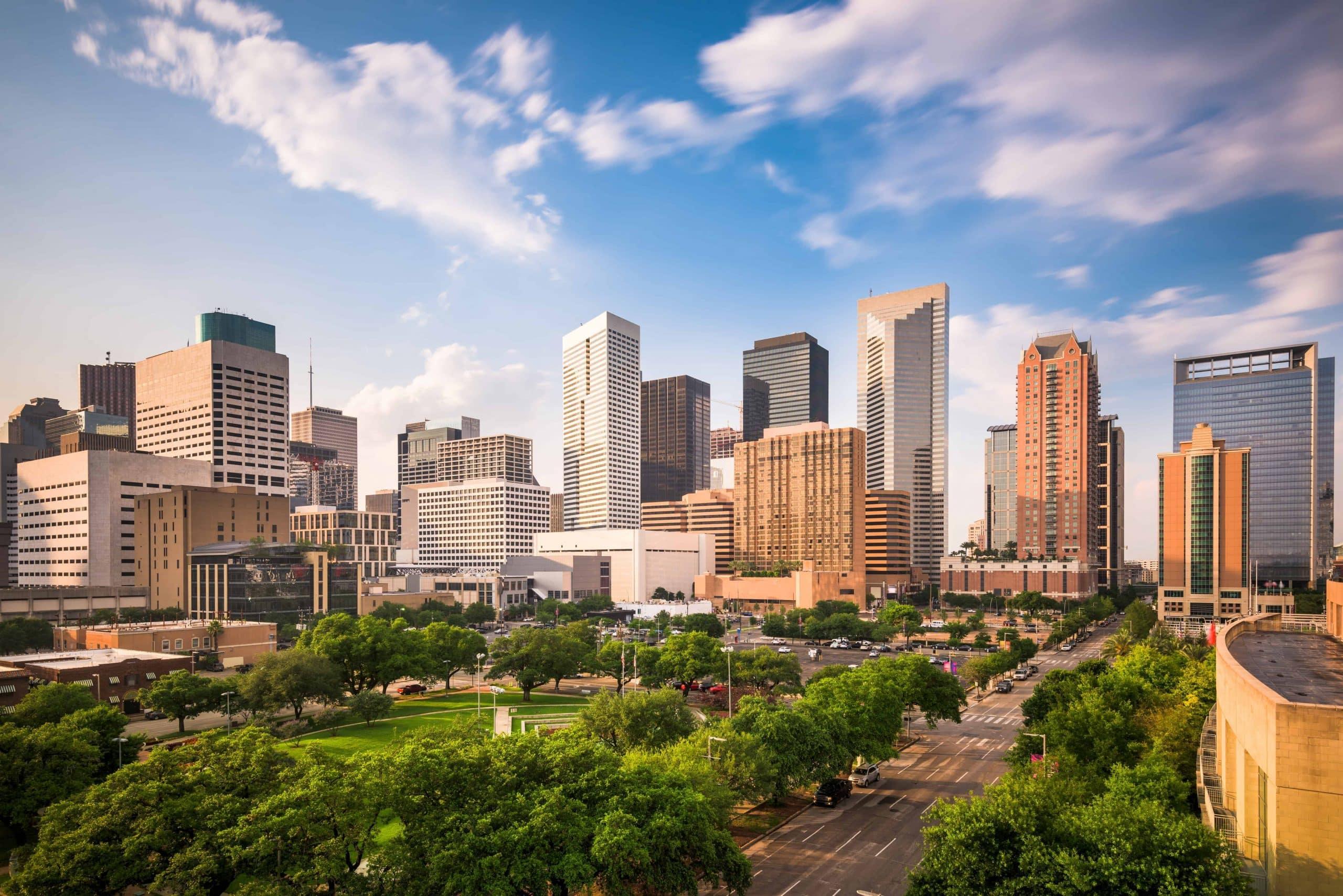 Houston Skyline i Texas - Risskov Rejser