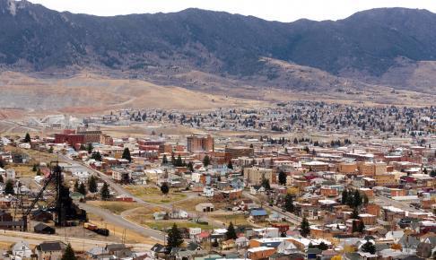 Udsigt over Downtown Butte Montana - Risskov Rejser