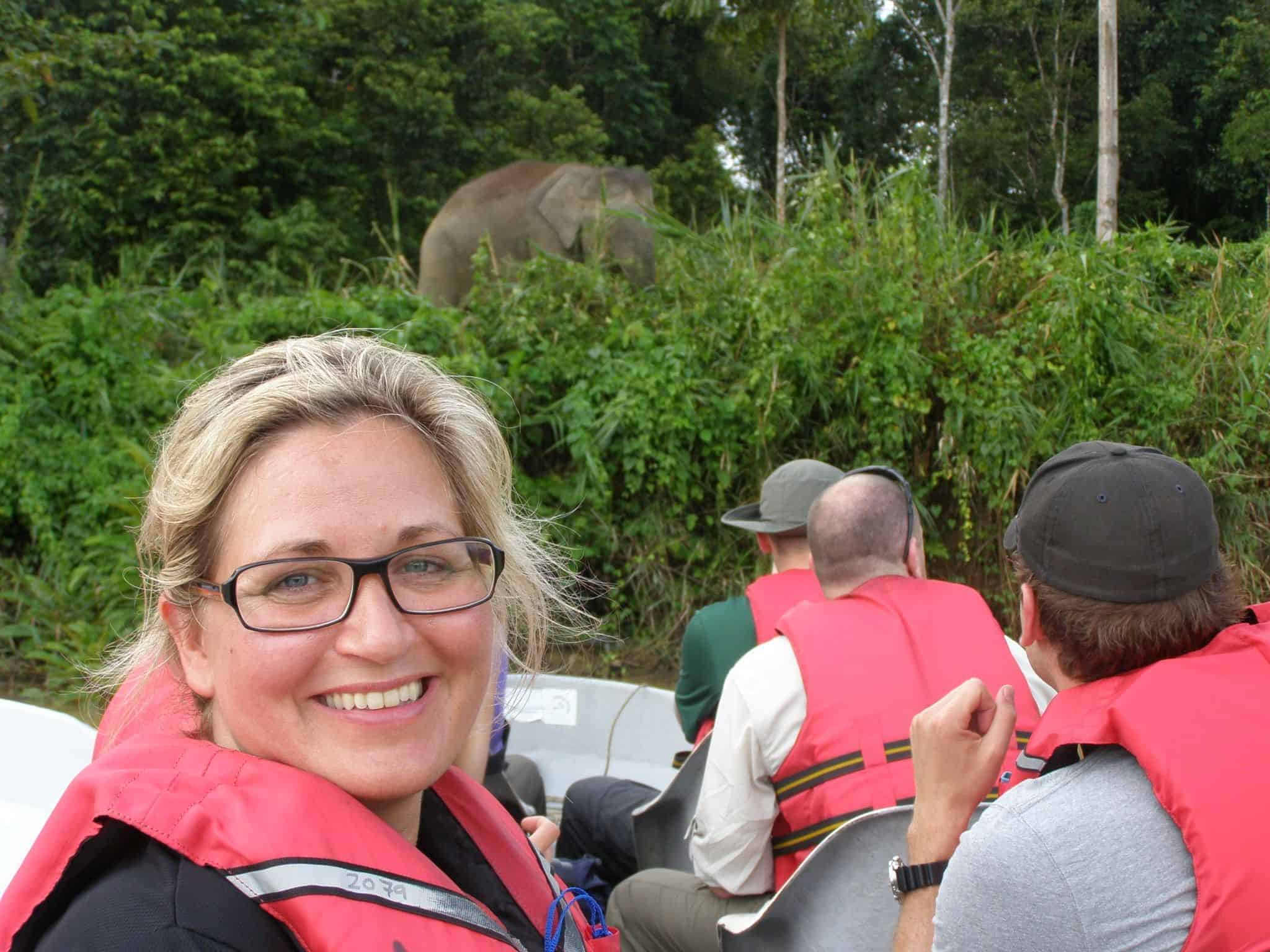 Rejseekspert Isabella Jensen på Kinabatangan-floden - Risskov Rejser