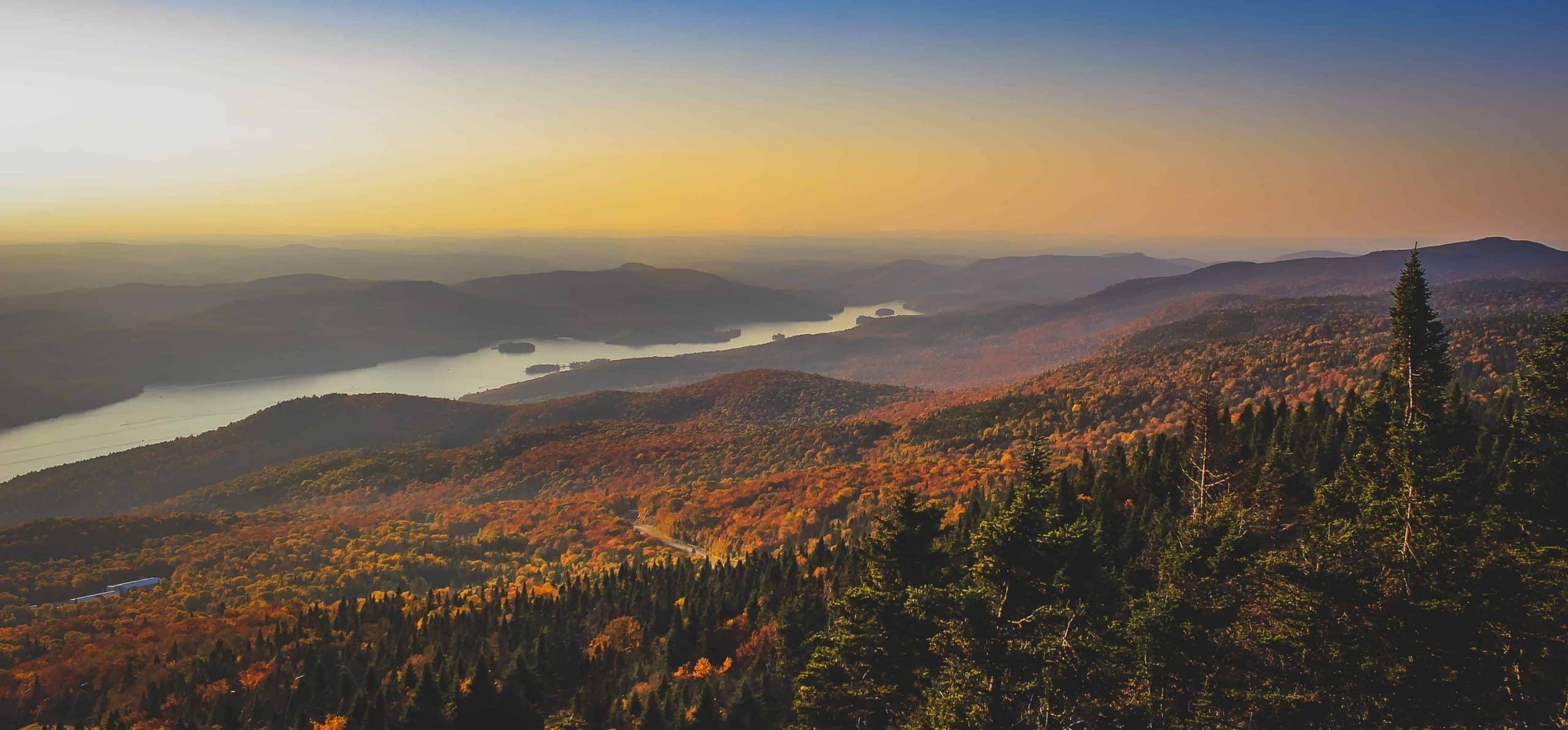 Lake Tremblant ved solnedgang - Risskov Rejser