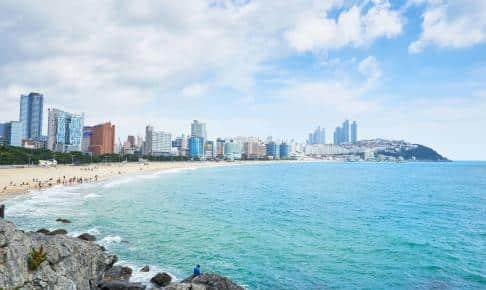 Busans berømte Haeundae Beach - Risskov Rejser