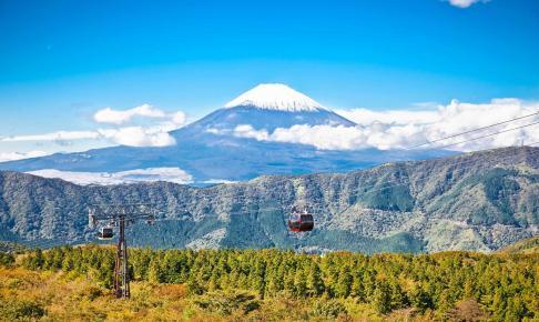 Kabelbanen i Hakone Nationalpark med udsigt til Mt. Fuji - Risskov Rejser