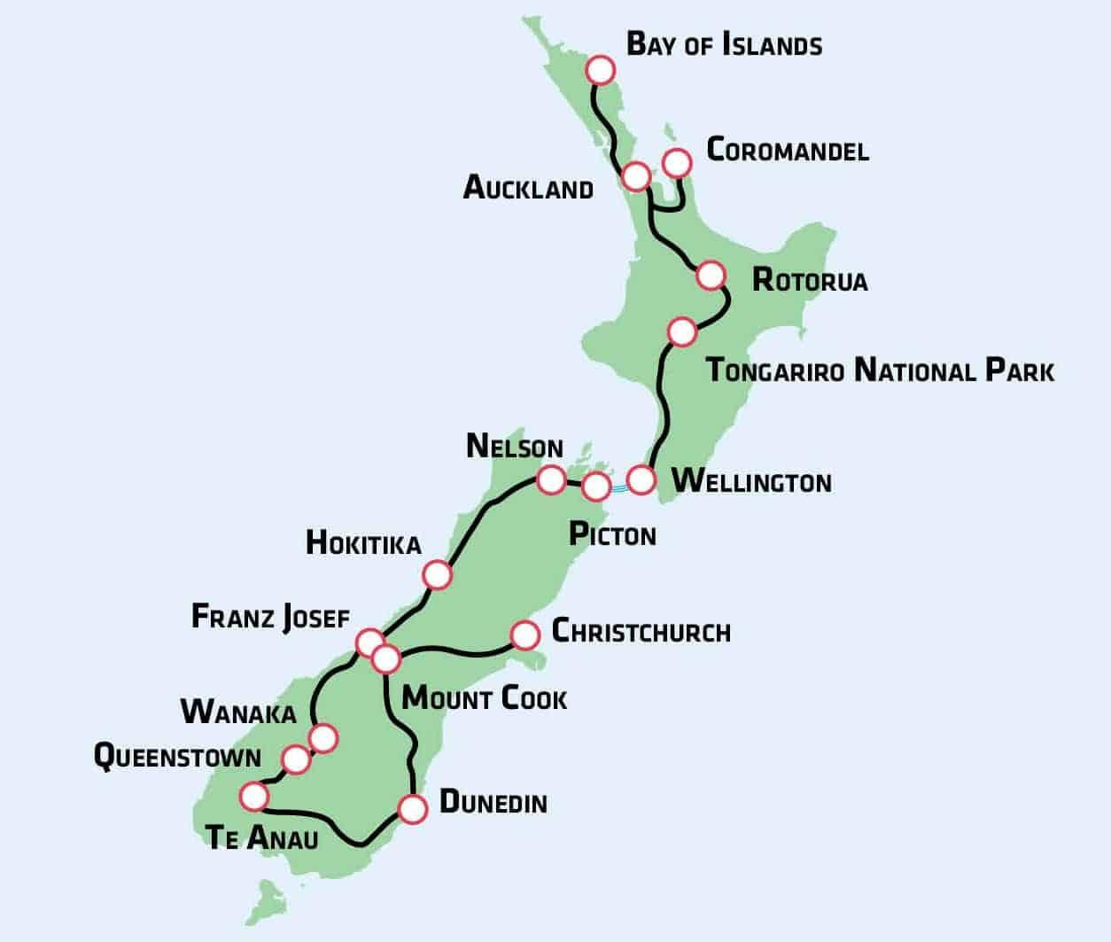 Oplev New Zealand Fra Nord Til Syd Pa En Kor Selv Ferie Risskov