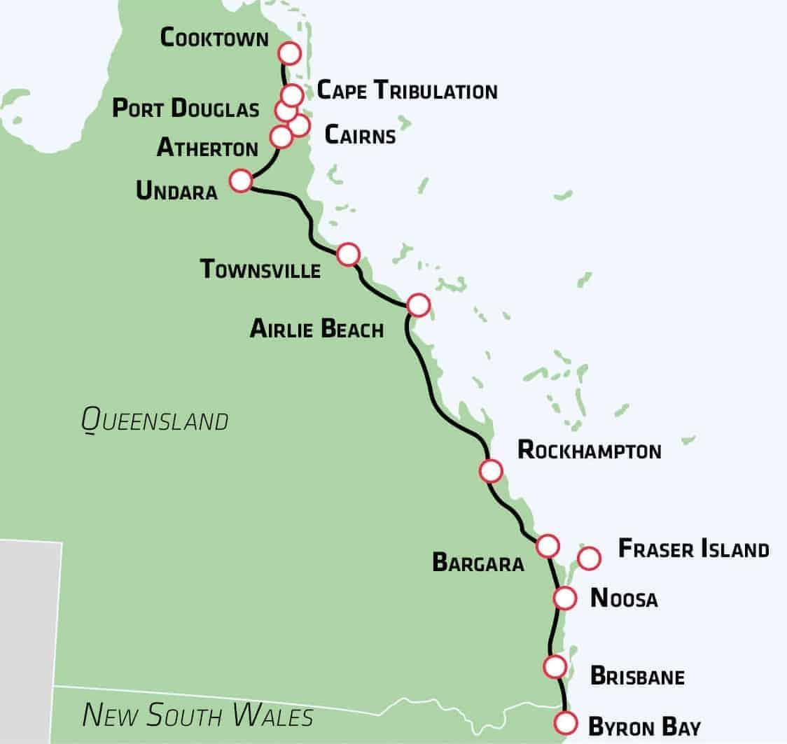 Oplev Regnskov Paradisstrande I Queensland Risskov Rejser