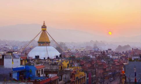 Udsigt over Kathmandu by - Risskov Rejser