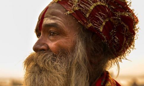 Sadhu in Varanasi, Indien - Risskov Rejser