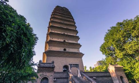 Small Wild Goose Pagoda temple complex - Risskov Rejser