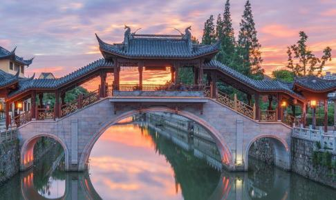 Ancient buildings in Suzhou China - Risskov Rejser