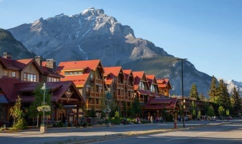 Byen Banff i Alberta