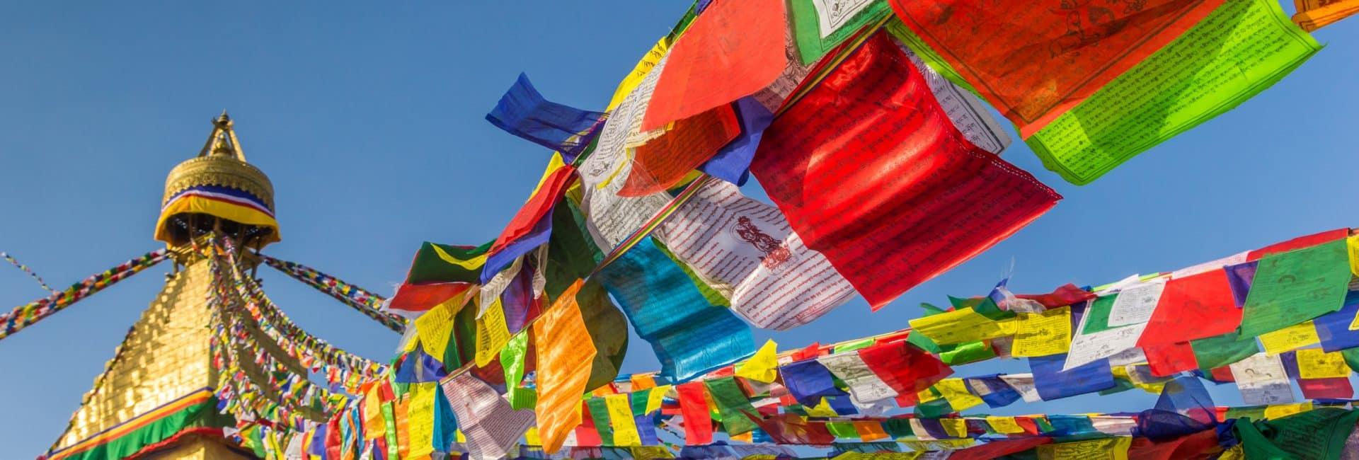 Bedeflag i Kathmandu i Nepal
