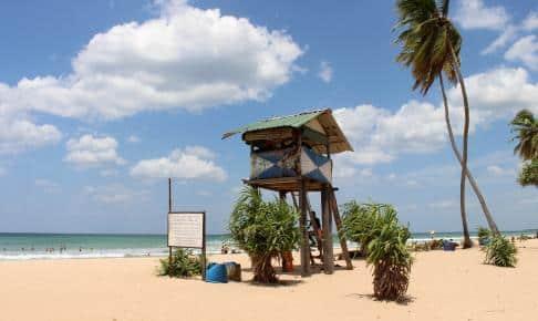 Srilankansk livredderhus på Nilaveli Beach i Trincomalee på Sri Lanka - Risskov Rejser til Sri Lanka