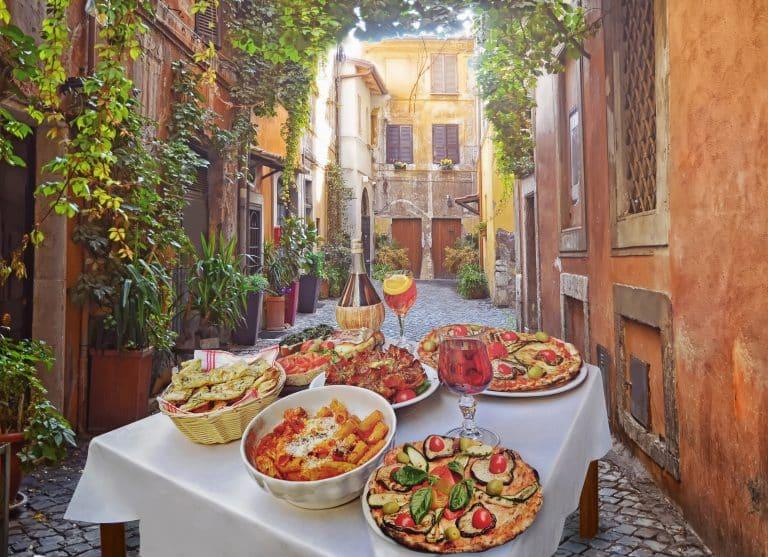 Lækre italienske retter i Roms smalle gader