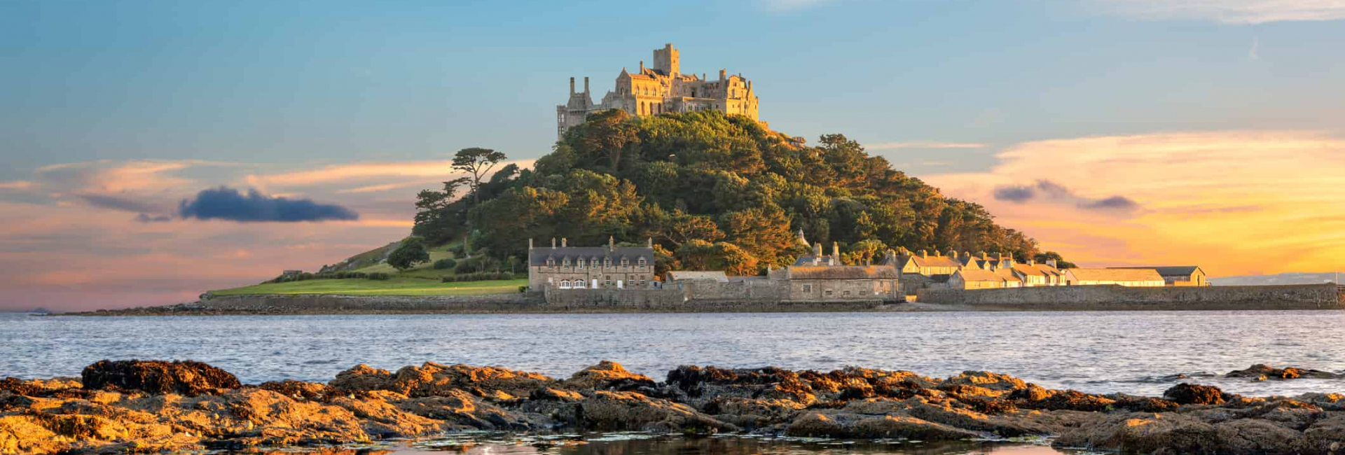Mount Bay og St Michaels Mount Island, Sydengland