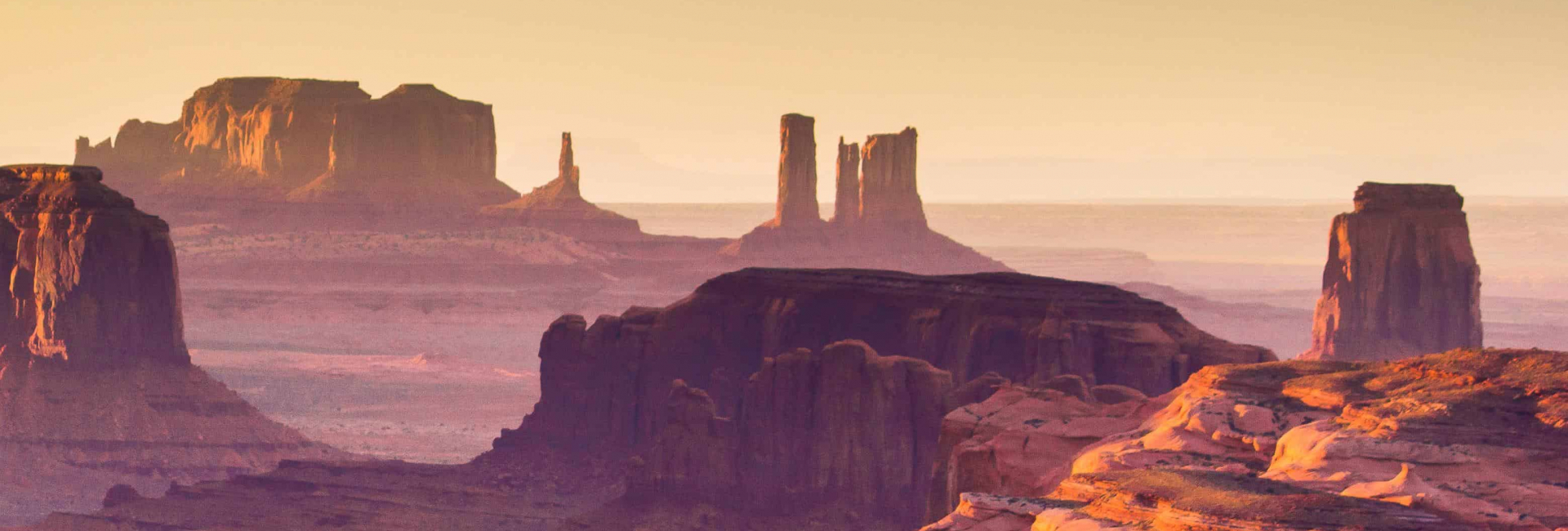 The Hunts Mesa Monument Valley i USA