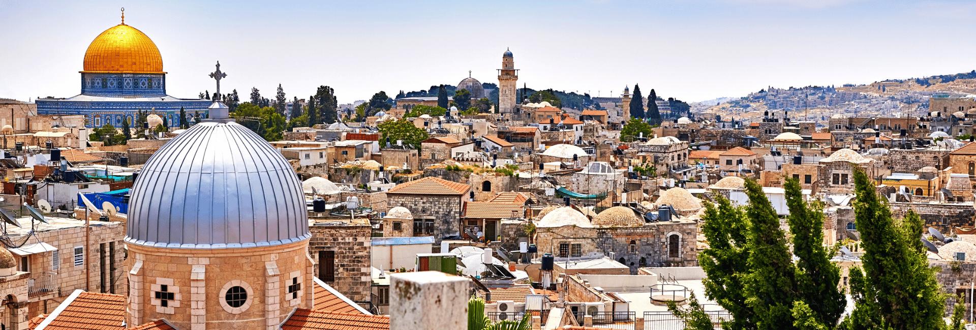 Udsigt over Jerusalem i Israel